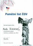 Český olympijský výbor oceňuje trenérky a cvičitelky roku 2011